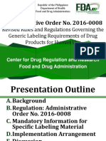 AO 2016 0008 Revised Labeling Presentation