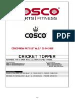 Cosco Dealer Price List