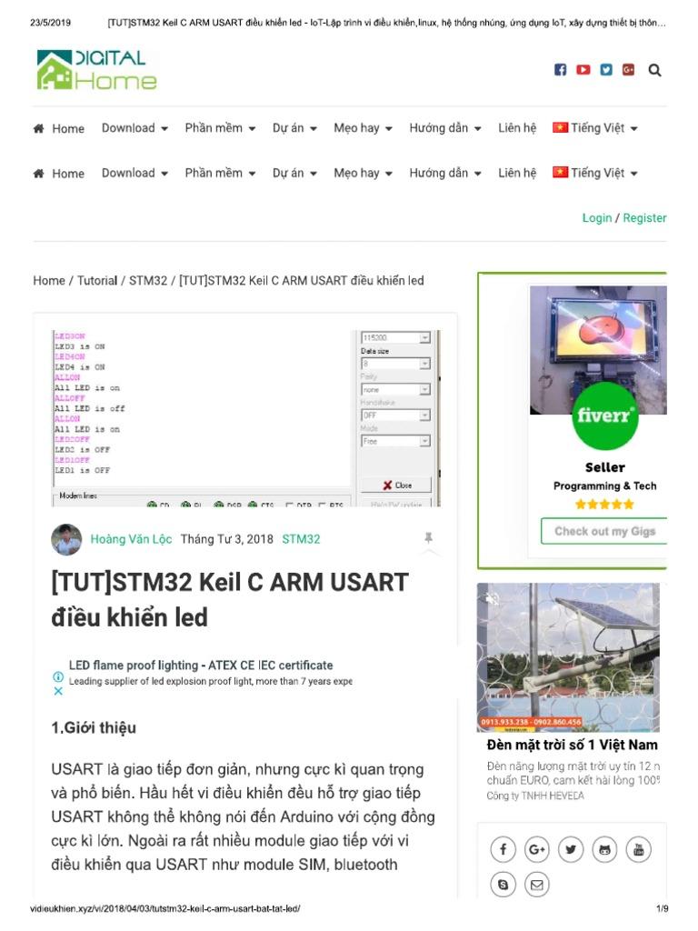 TUT]STM32 Keil C ARM USART Điều Khiển _STM, TI, Nordic