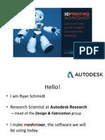 Autodesk 3DPrintingTutorial Meshmixer Toronto ACM SIGGRAPH Chapter