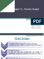 Fixed Budget vs Flexible Budget
