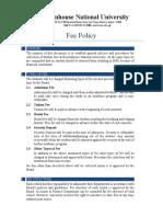 Fee Policy BNU (Updated 30-08-2017)