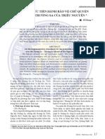 Phương Thức Tiến Hành Bảo Vệ Chủ Quyền Hoàng Sa - Trường Sa Của Triều Nguyễn - Đỗ Bang