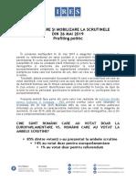 Ires_profiling Politic 26 Mai 2019_ii_participare Si Mobilizare La Vot_analiza Descriptiva a Datelor