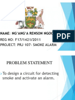 Smoke Alarm- Presentation