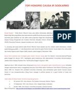 Daftar Gelar Doctor Honoris Causa Presiden Soekarno - Portal Sosmed