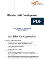 Effective ISMS Development