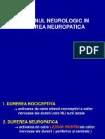 Durerea neuropatica sinteza