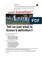 "Tell us just what is Exxon's definition of ""Just  transition"""