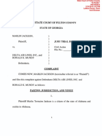 Marlin Jackson vs Delta Air Lines Inc and Ronald K Mundy Complaint pdf
