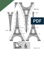 Eiffel Tower Template