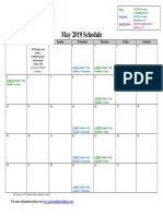 SCDNF May 2019 Schedule