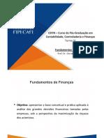 Cefin 31 - Fundamentos de Finanças