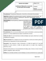 Procedimimiento Organizacion Documental confecciones S.A