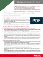 TR018 HYDAC Training Cancellation Policy-V1-1