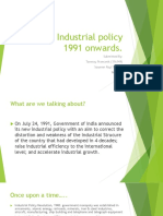 Industrial Policy Reforms