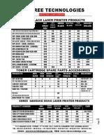 Shree New Price List 2016-17