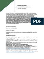 Tópicos de Filosofia Antiga I_Programa