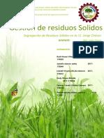 Caracterizacion de Residuos Solidos