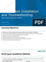 SCCM Agent Installation Uninstallation Traning