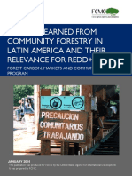 ALCORN 2014 Community Forestry Latin America Lessons for REDD+