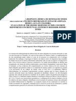 Araujo Et Al Evaluación de La Respuesta Sísmica de Sistemas de Muros Delgados de Concreto Reforzado en Zonas de Amenaza Sísmica Alta