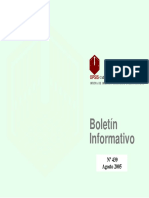 Boletin Informativo Agosto 2005