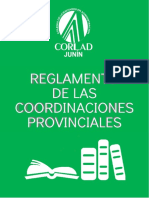 Reglamento de Las Coordinaciones Provinciales