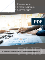 Business Administration - Project Management_PHD