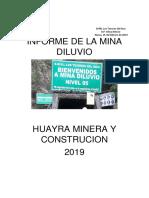 Informe de Los Labores de La Mina Diluvio