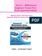 Disha Publication RRB JE Past Years Question Bank for General Awareness. CB1198675309