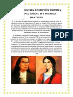 Aniversario Del´çñç´ñ Sacrificio Heroico de Túpac Amaru II y Micaela Bastidas