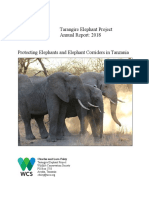tarangire elephant project annual report 2018
