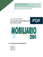 Espec Tecnicas de Mobiliario 2004