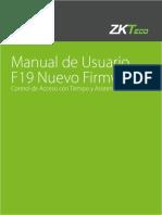 Manual de Usuario F19 Nuevo Firmware