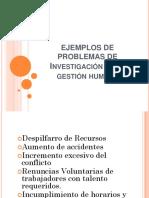 Ejemplos de Problemas de Investigación de La Gestión