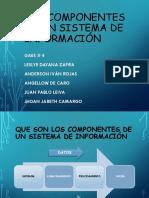Los Componentes de Un Sistema de Informacion