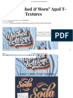 "9 Free ""Washed & Worn"" Aged T-Shirt Effect Textures"