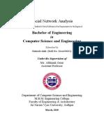 Social network analysis report