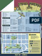 Ithaca Festival 2019 Schedule Map
