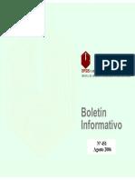 Boletin Informativo Agosto 2006