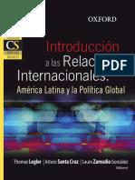 Legler Santa Cruz Zamudio - Introducción a las Relaciones Internacionales.