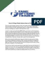 FAANG Options Trader Report 2018