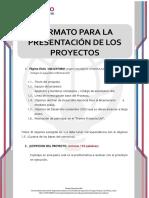 FORMATO DE  PRESENTACION DE PROYECTOS