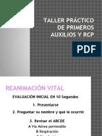 Taller Práctico de Primeros Auxilios y Rcp