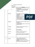 Calendario de Evaluaciones 2019 Matematica
