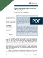 A revised global conservation status of the Javan Ferret Badger Melogale Orientalis