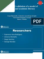 Proyecto Investigacion Diseño y validación de un modelo de literacidad crítica y académica