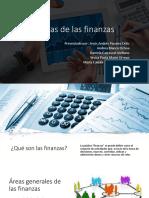 Áreas de Las Finanzas