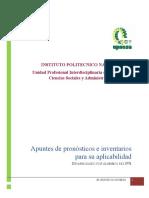 Apuntes de Pronósticos e Inventarios Para Administradores Industriales Mayo 2019
